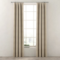 curtains cotton canvas drapery 3d model