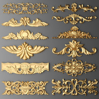 3d cartouches set