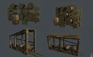3d model stands casks