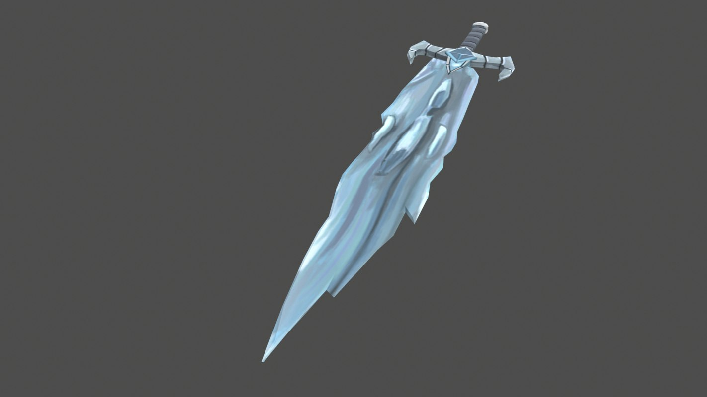 free x model ice sword hilt