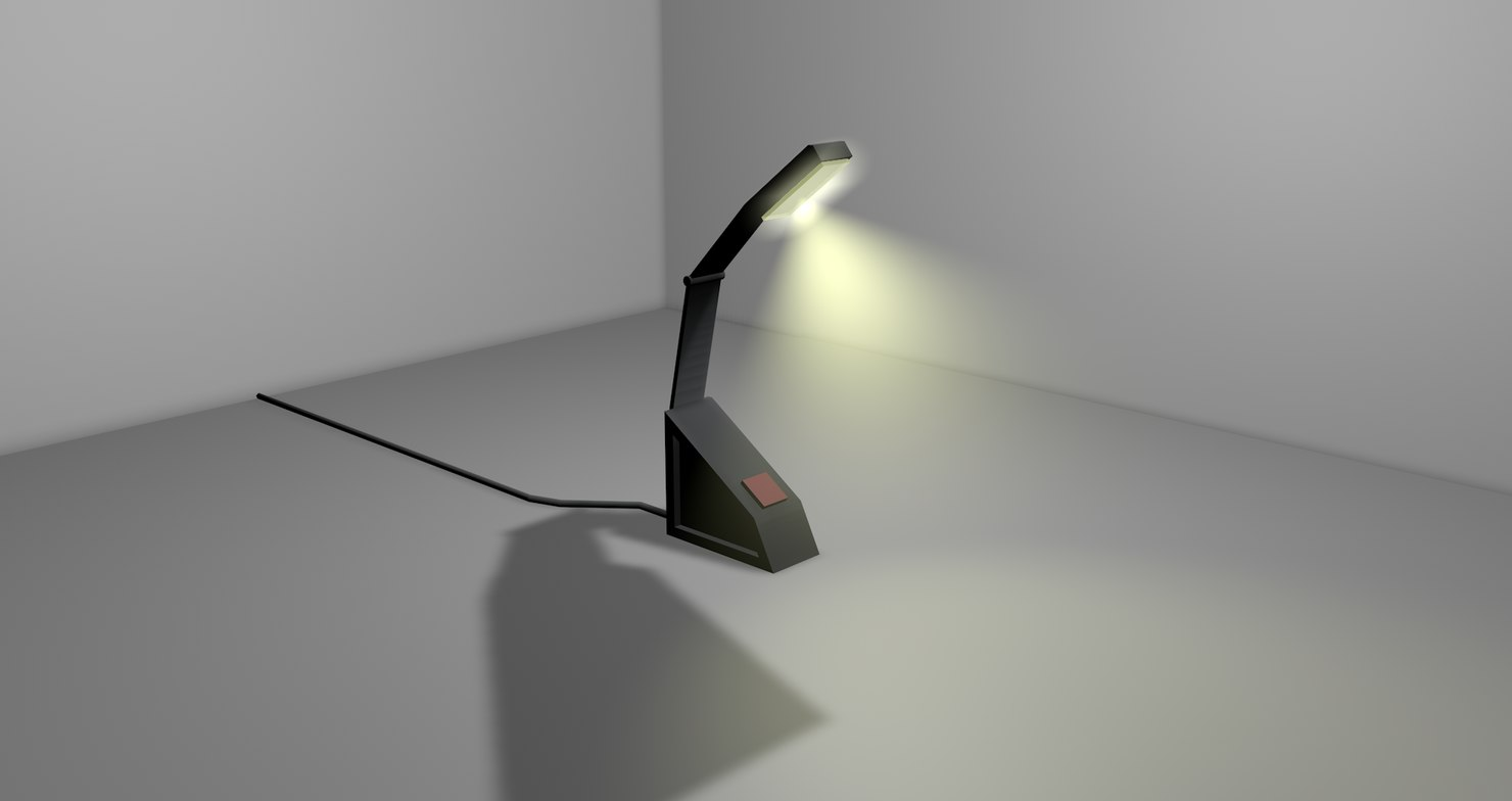 3d model of usb desk lamp