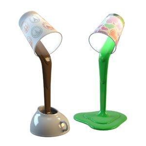 creative desk lamp 3d model