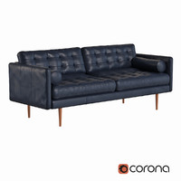 West Elm Monroe Mid-Century Leather Sofa