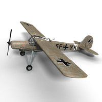 purchase storch fieseler fi 3d model