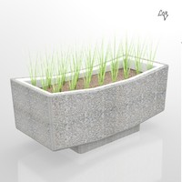 3d model of flower flowerpot