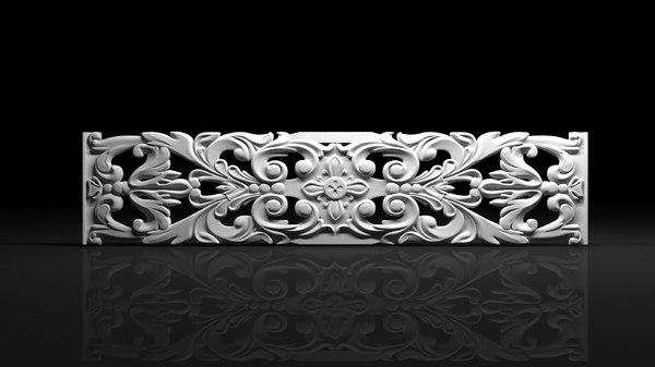 bas-reliefs decor 3d max
