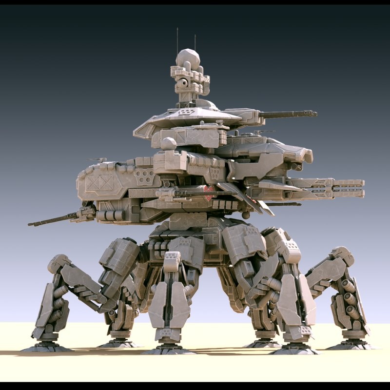 mech annihilator 3d model