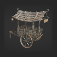 wooden cart 3ds