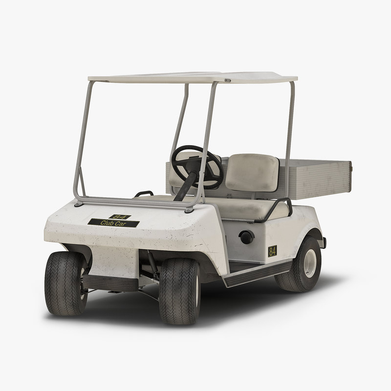 golf cart rigged 3d model