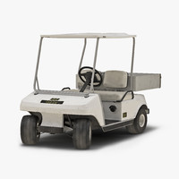 golf cart rigged 3d model