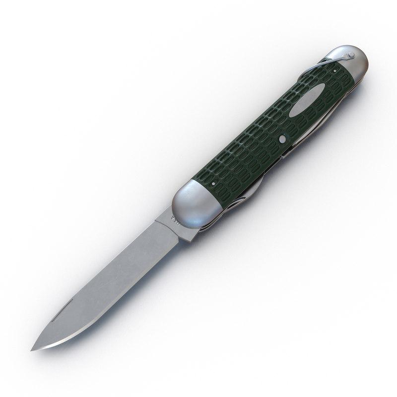 3d model pocket knife generic