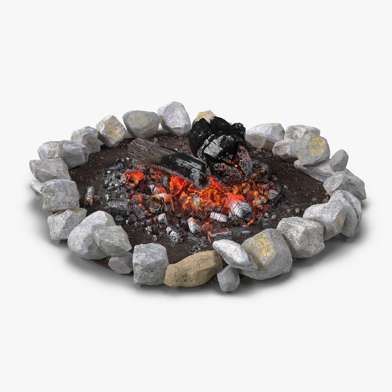 campfire pit 3d model
