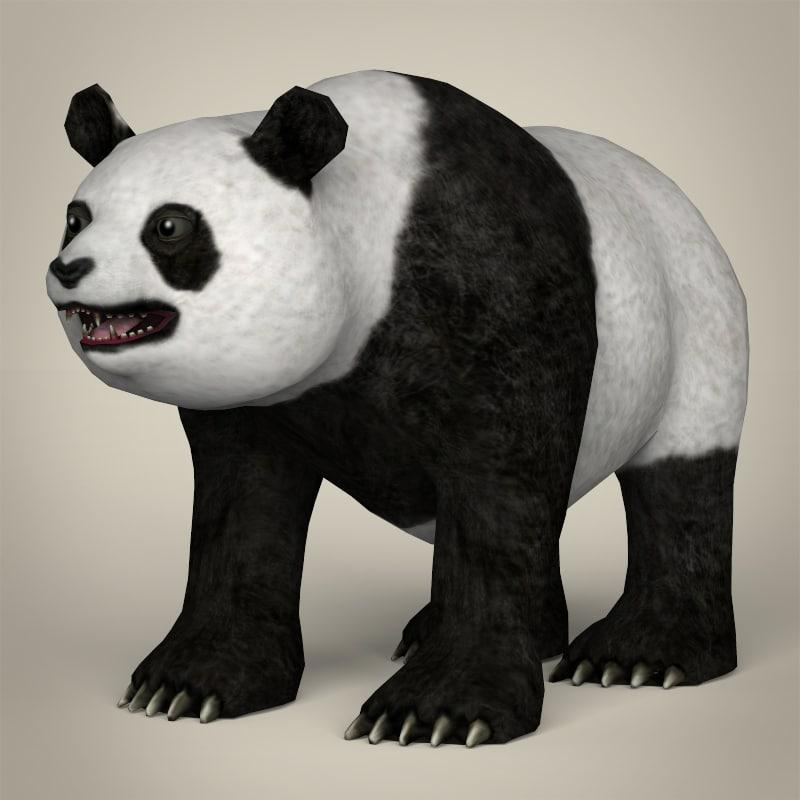 realistic giant panda 3ds
