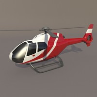 3d model eurocopter colibri ec-120b civil