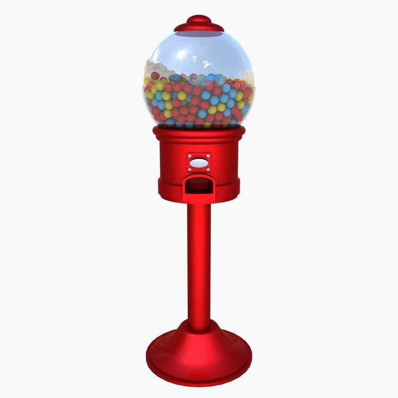 gum machine 3d model