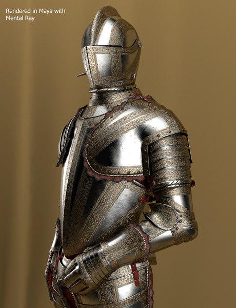 3d knight armor