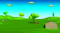 3d model cartoon landscape scene