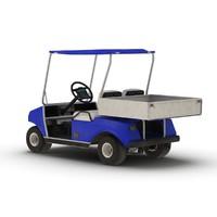 3d golf cart blue