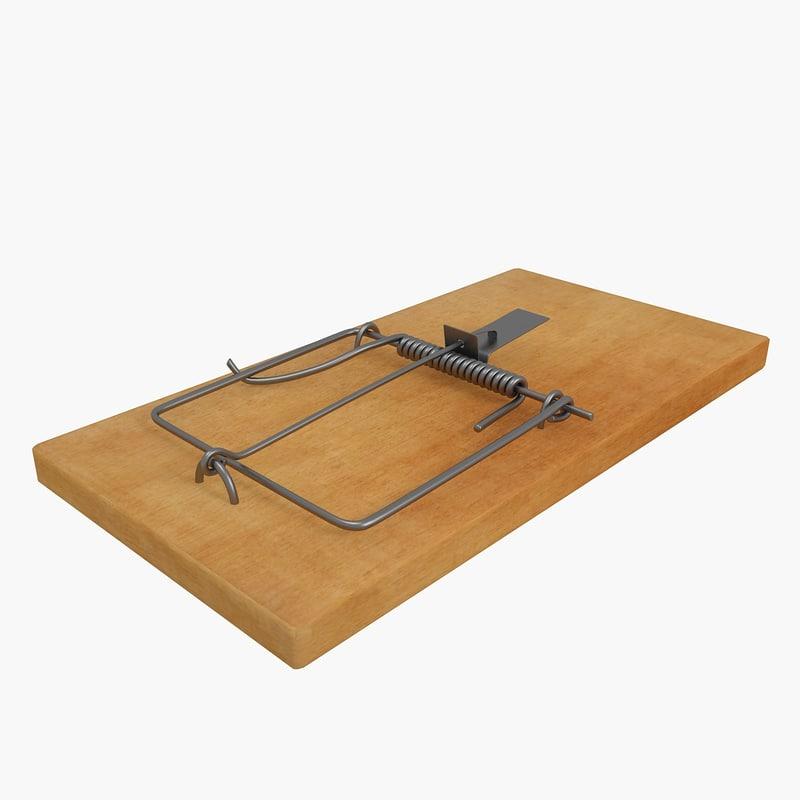 mousetrap trap mouse 3d max