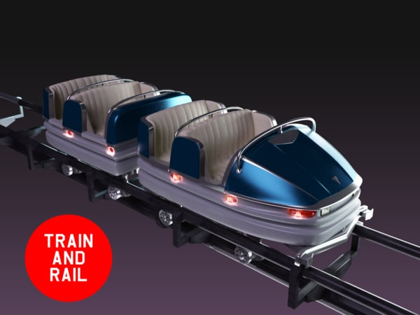 wagon roller coaster 3d model