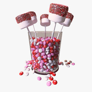 3d model marshmallow valentine