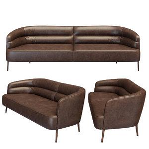 3d max wittmann odeon sofa