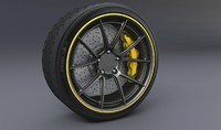 tire disc brake 3d obj
