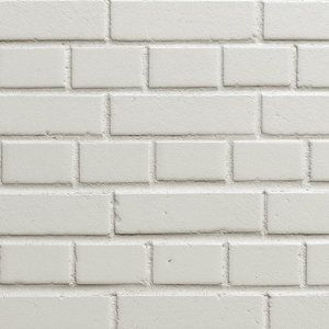 3d realistic wall white brick model