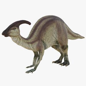 3ds parasaurolophus pose 3
