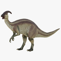 parasaurolophus pose 2 3d obj