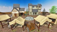 middle age exterior 3d model