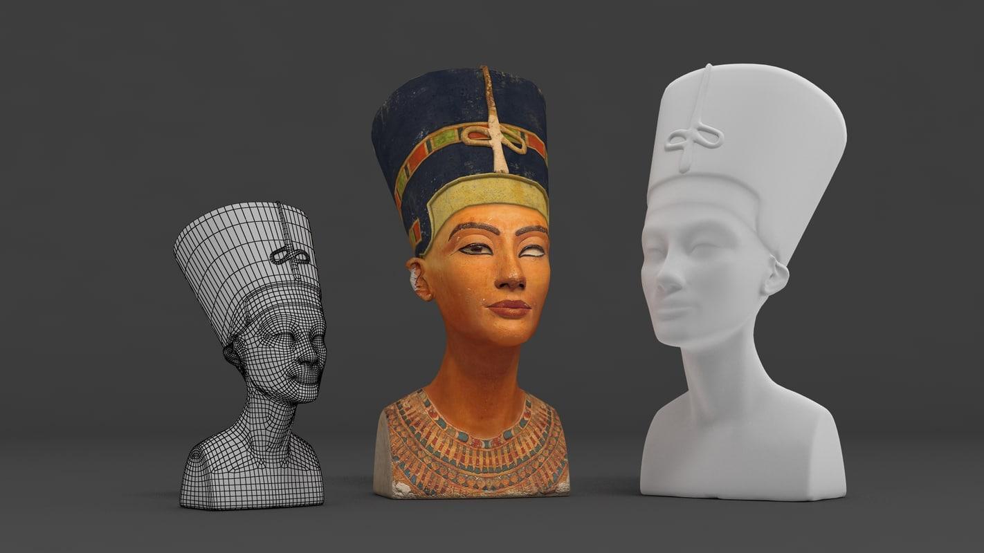 nefertiti queen egypt 3d model