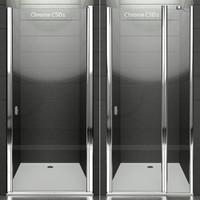 3d model ravak shower doors