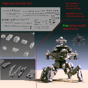 parts kit 3d model