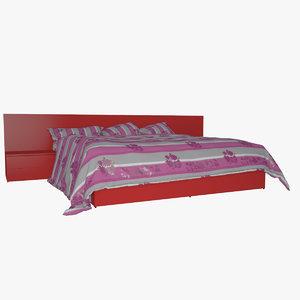 3d model v-ray bed