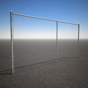 3d max tall chain link fence