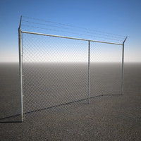 Tall Barbed Wire Chain link Fence.