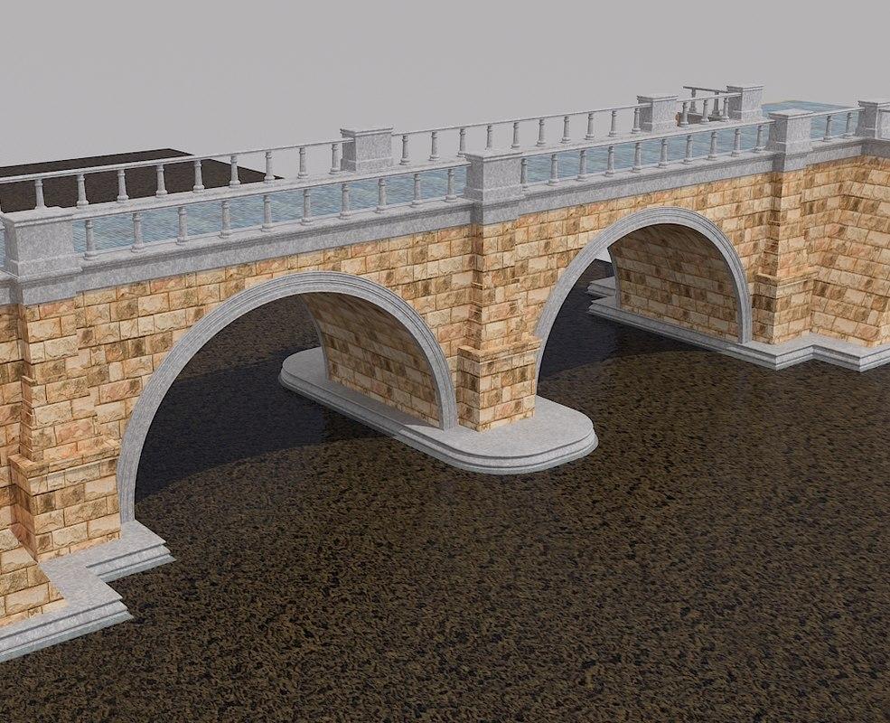 3d old bridge