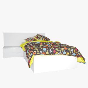 v-ray bed mattress pillow 3d model