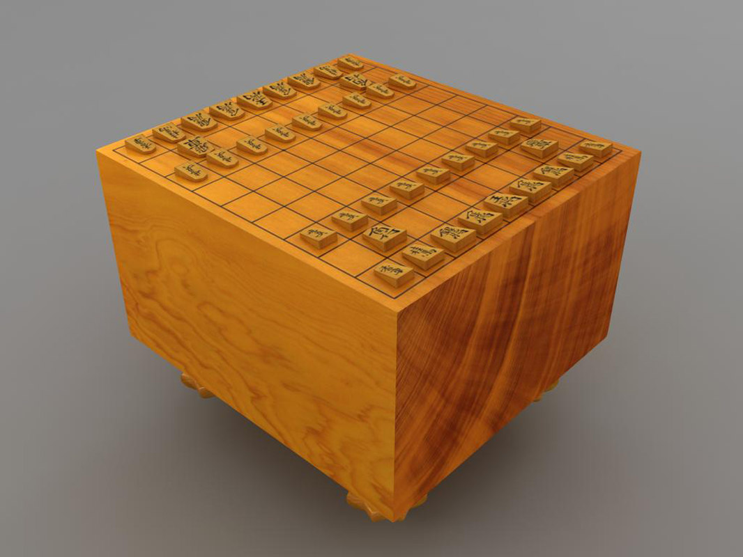 3d model shogi japanese chess