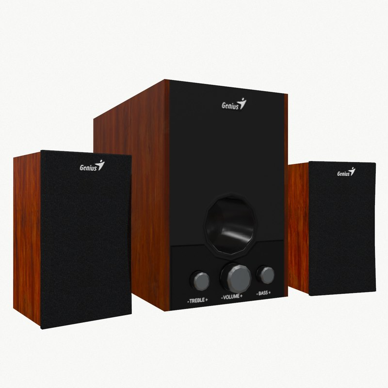 3d model computer speakers genius