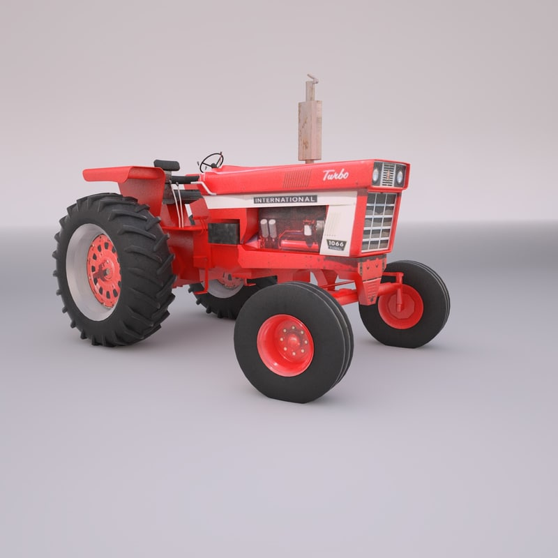 3d international 1066 farmall tractor model