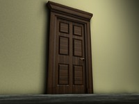 wooden door 3ds