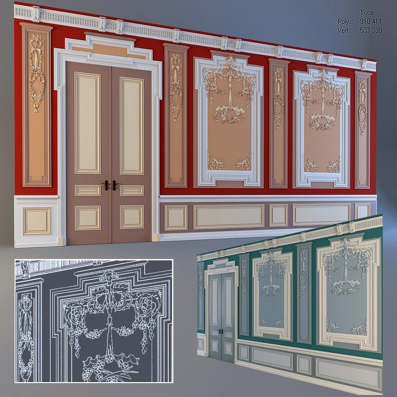 3d stucco wall model