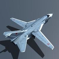 3d model sukhoi su-24 24