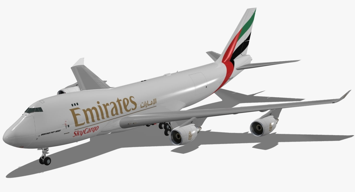 3d model of boeing 747-400 f emirates