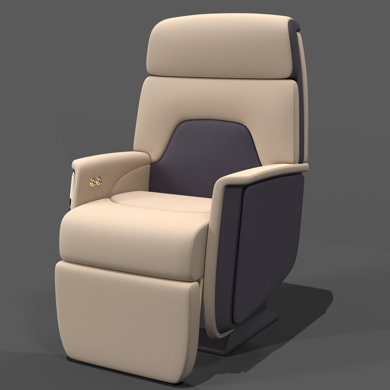 airline chair 3ds