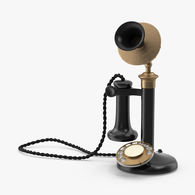 candlestick phone 3d max