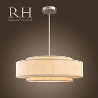 max three-tier linen banded pendant