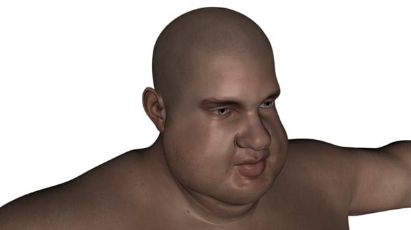 3ds realistic rigged male character